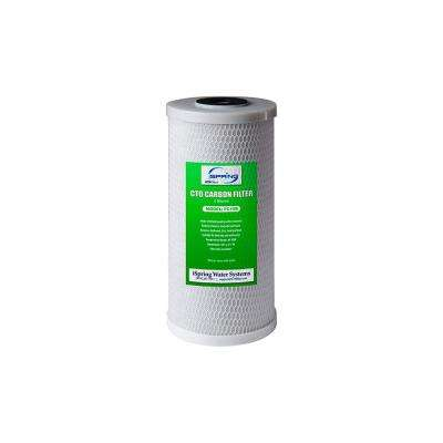 10 in. 5-Micron Big Blue Carbon Block (CTO) Water Filter Replacement Cartridge