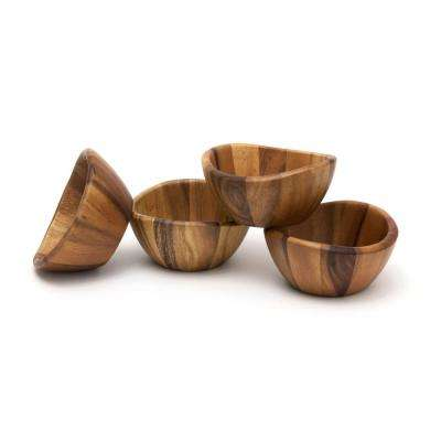 Acacia 6 in. Wavy Rim Bowl (Set of 4)