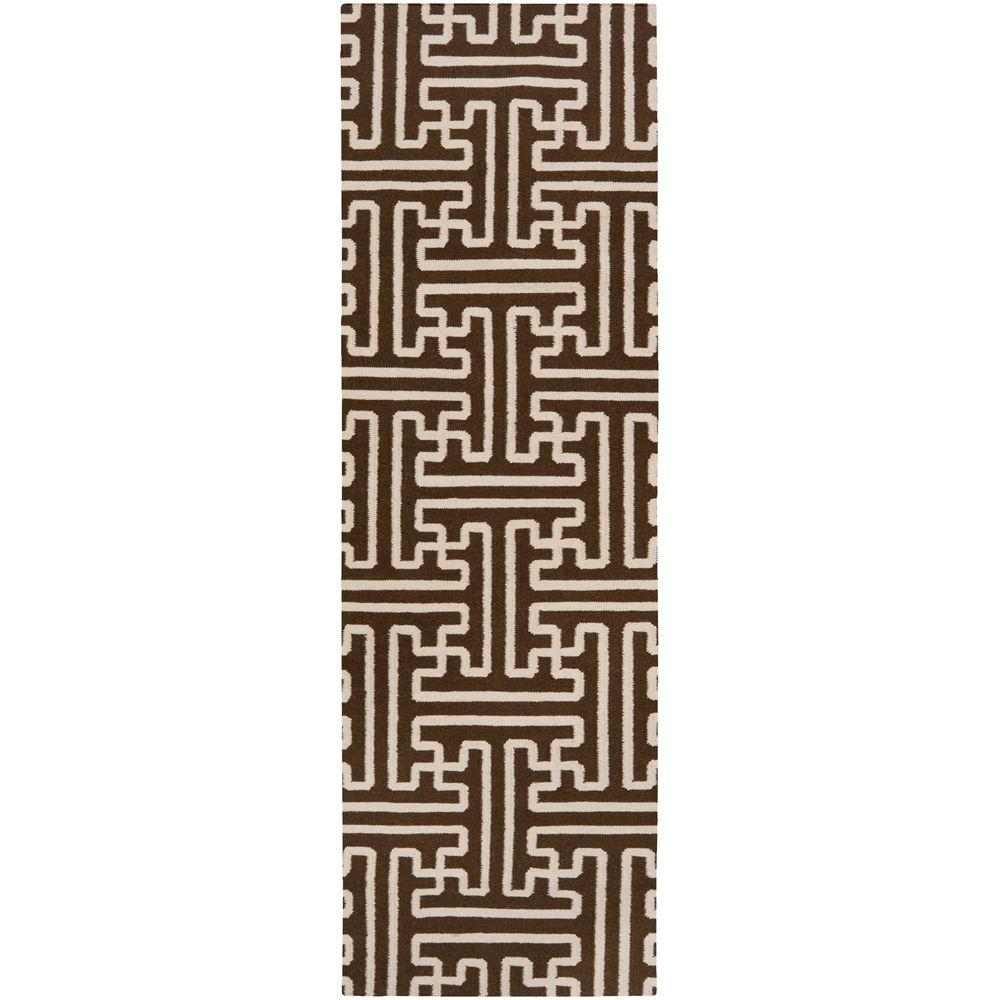 Smithsonian Brown 2 ft. 6 in. x 8 ft. Flatweave Rug