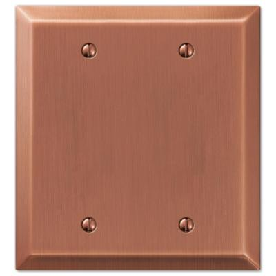Metallic 2 Gang Blank Steel Wall Plate - Antique Copper