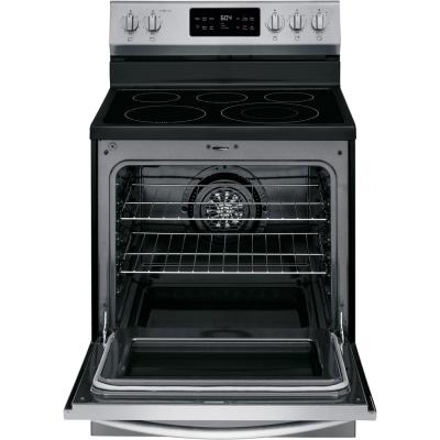30 in. 5.4 cu. ft. Single Oven Electric Range with Steam Clean Quick Bake Convection Smudge-Proof Stainless Steel Oven