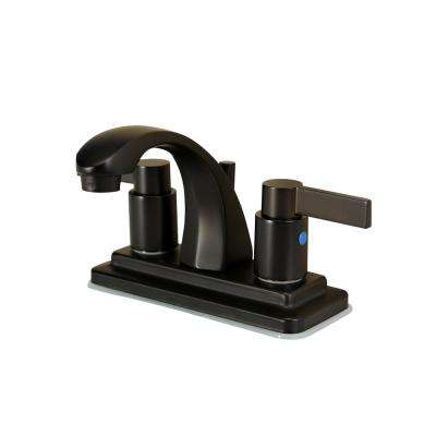 Everett 4 in. Centerset 2-Handle High-Arc Bathroom Faucet in Oil Rubbed Bronze