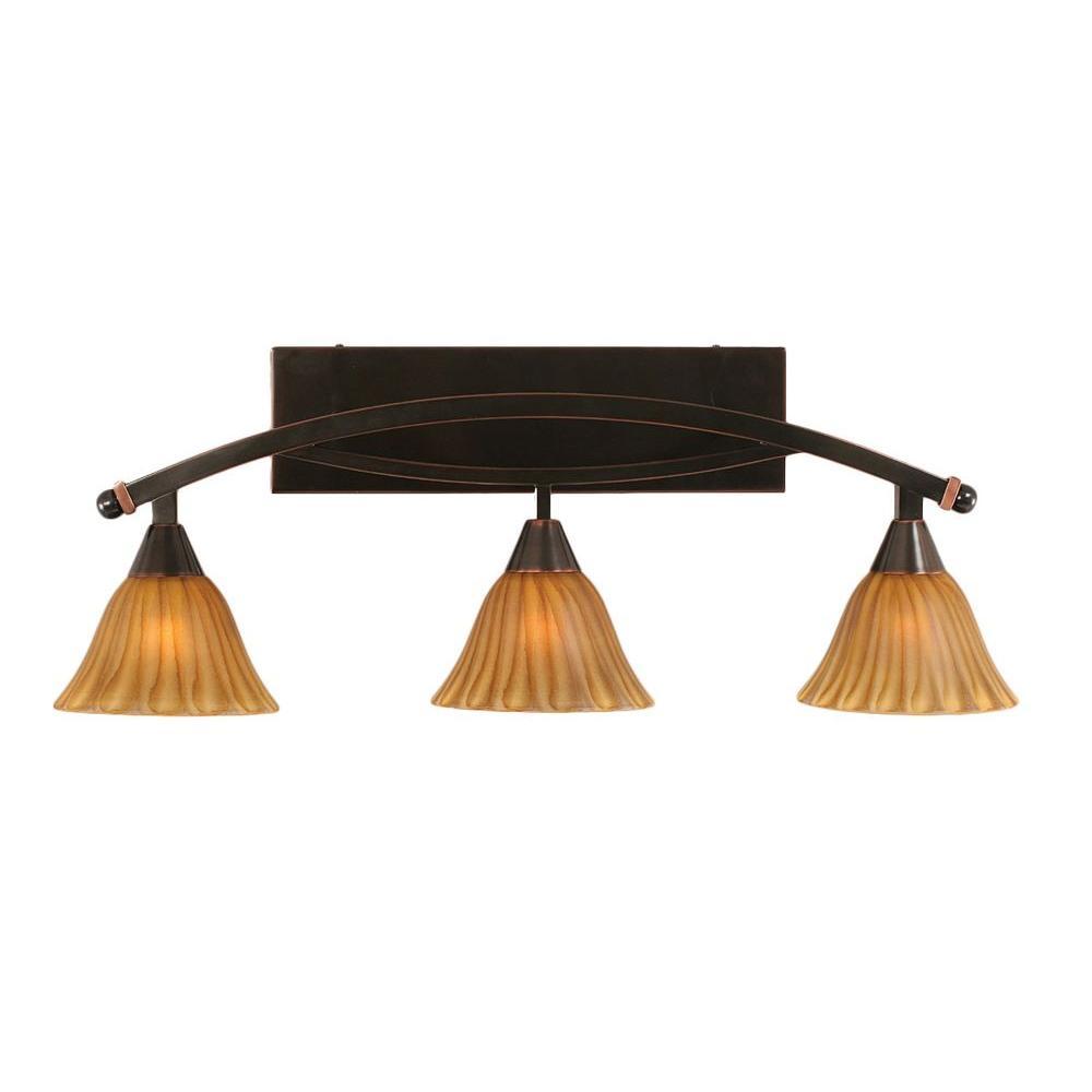Concord 3-Light Black Copper Bath Vanity Light