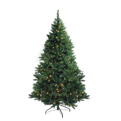 114 in. Pre-Lit Medium Buffalo Fir Artificial Christmas Tree with Clear Lights