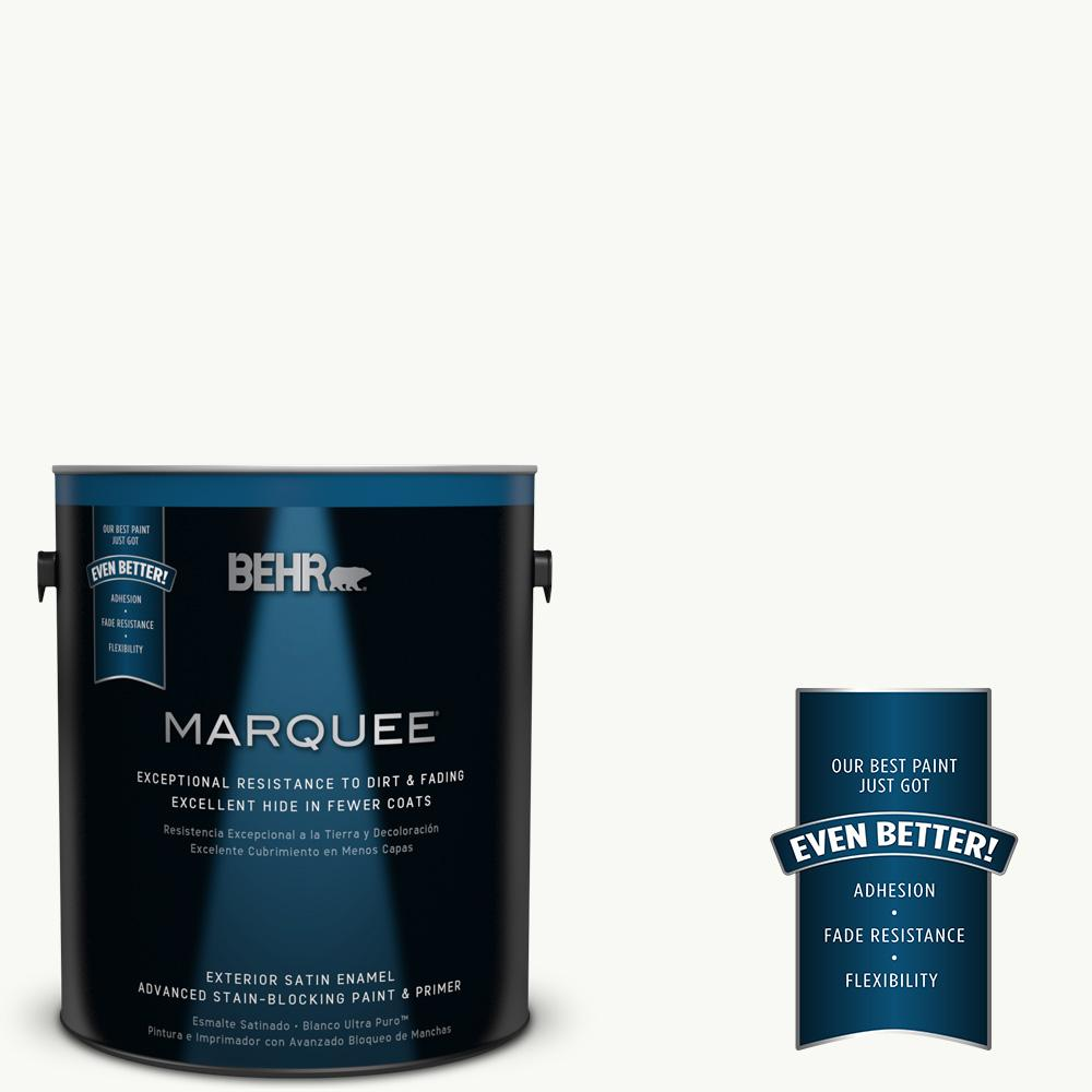 1 gal. #PR-W15 Ultra Pure White Satin Enamel Exterior Paint and