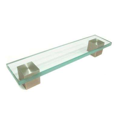 Contemporary 6-5/16 in. (160 mm) Clear Brushed Nickel Cabinet Pull