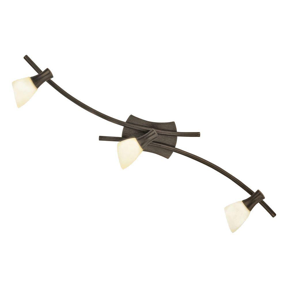 Ona 3-Light Antique Brown Transitional Lighting Track