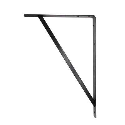 20 in. x 13 in. Black Heavy Duty Shelf Bracket