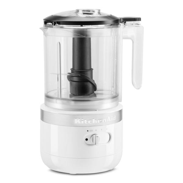 Cordless 5-Cup White Food Chopper