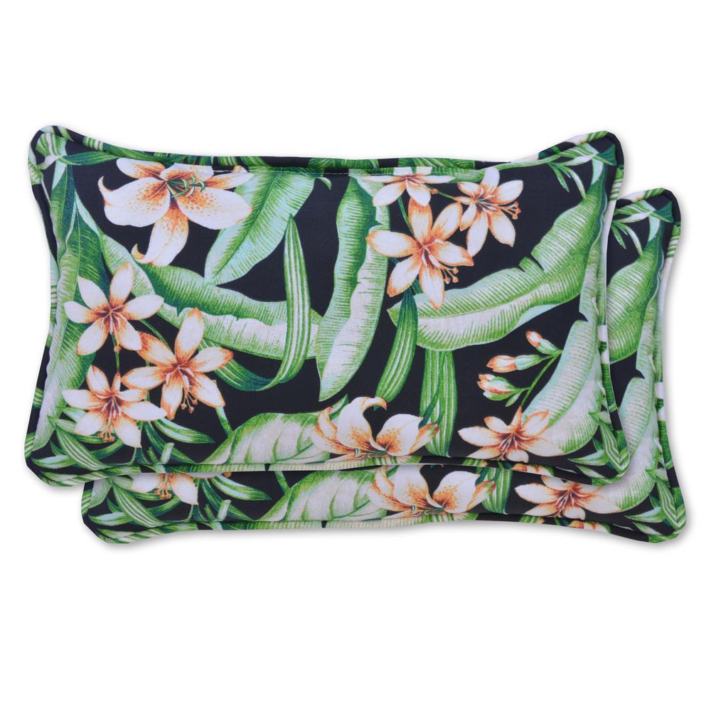 Naya Rectangle Lumbar Outdoor Throw Pillow (2-Pack)