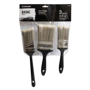2 in. Flat Cut, 3 in. Flat Cut and 2 in. Angled Sash Utility Paint Brush Set (3-Piece)