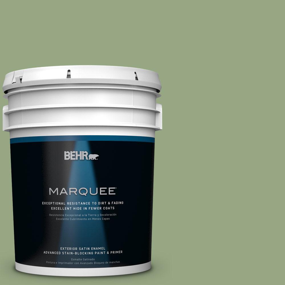 5-gal. #M380-5 Hillside Grove Satin Enamel Exterior Paint