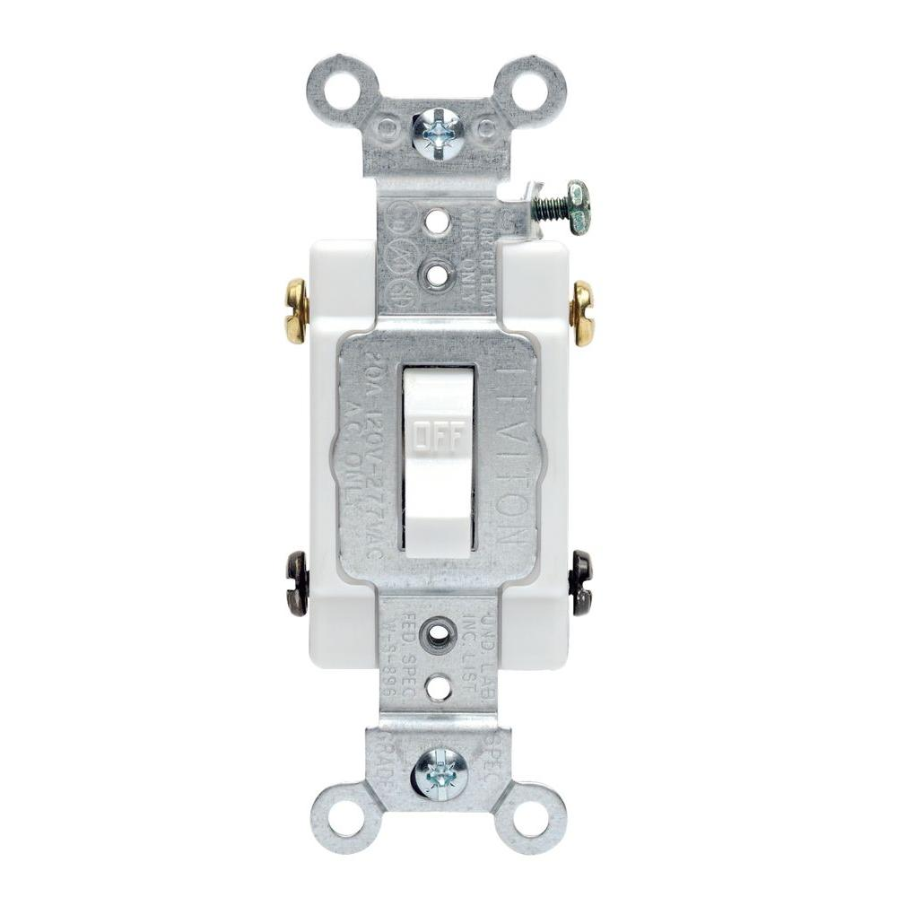 white leviton switches r52 0csb2 2ws 64_1000 leviton 20 amp commercial double pole toggle switch, white r52  at gsmportal.co
