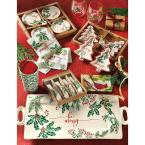 Tag Boughs Of Holly Earthenware and Stainless Steel White Spreaders (Set Of 4)