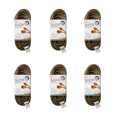50 ft. 16/3 Light-Duty Indoor/Outdoor Landscape Cord (6-Pack)