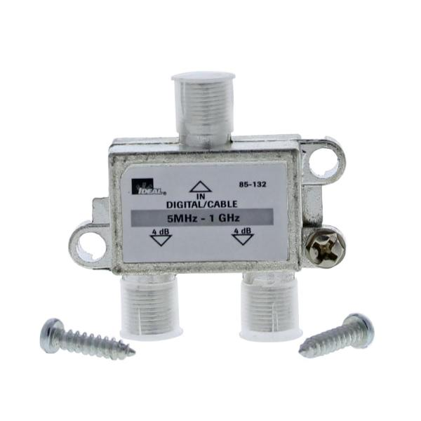 5 MHz - 1 GHz 2-Way High-Performance Cable Splitter (Standard Package, 4 Splitters)