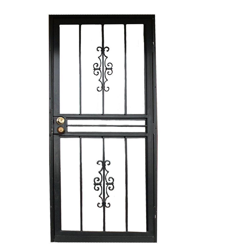 34 in. x 80 in. 501 Series Genesis Steel Black Prehung  sc 1 st  Home Depot & Security Doors - Exterior Doors - The Home Depot