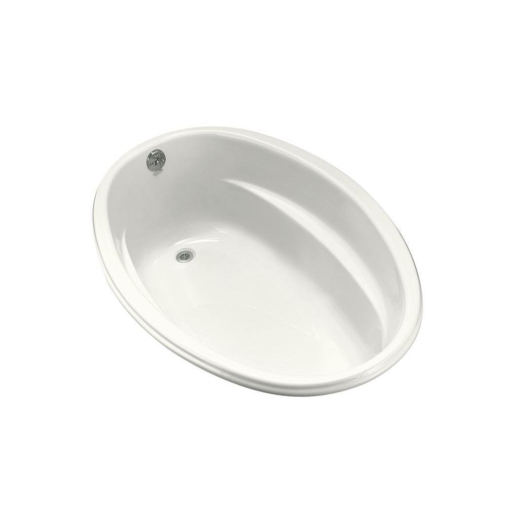 KOHLER Proflex 5 ft. Reversible Drain Oval Bathtub in White-K-1147-0 ...