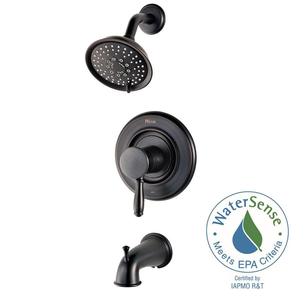 Pfister Universal 1-Handle Tub and Shower Faucet Trim Kit in Tuscan ...