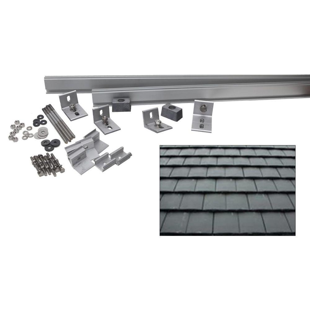 null 6,000-Watt Direct Mount Racking System (Flat Slate Tile)-DISCONTINUED