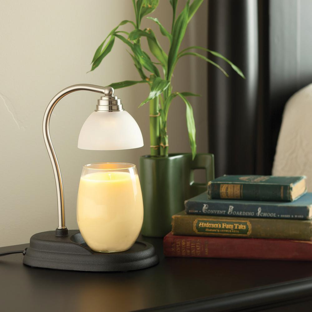 Pewter Aurora Candle Warmer Lamp