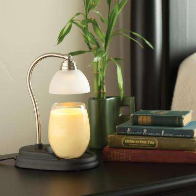11 in. Pewter Aurora Candle Warmer Lamp