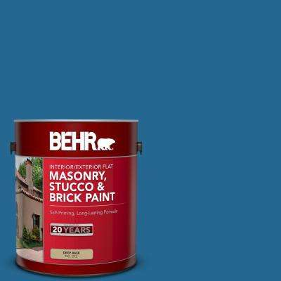 1 gal. #OSHA-1 OSHA SAFETY BLUE Flat Interior/Exterior Masonry, Stucco and Brick Paint