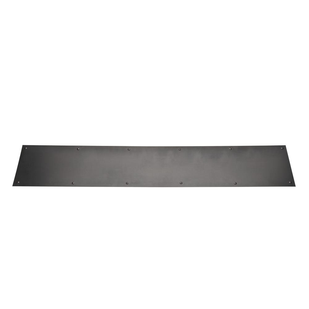 6 in. x 34 in. Stainless Steel Kick Plate in Oil-Rubbed