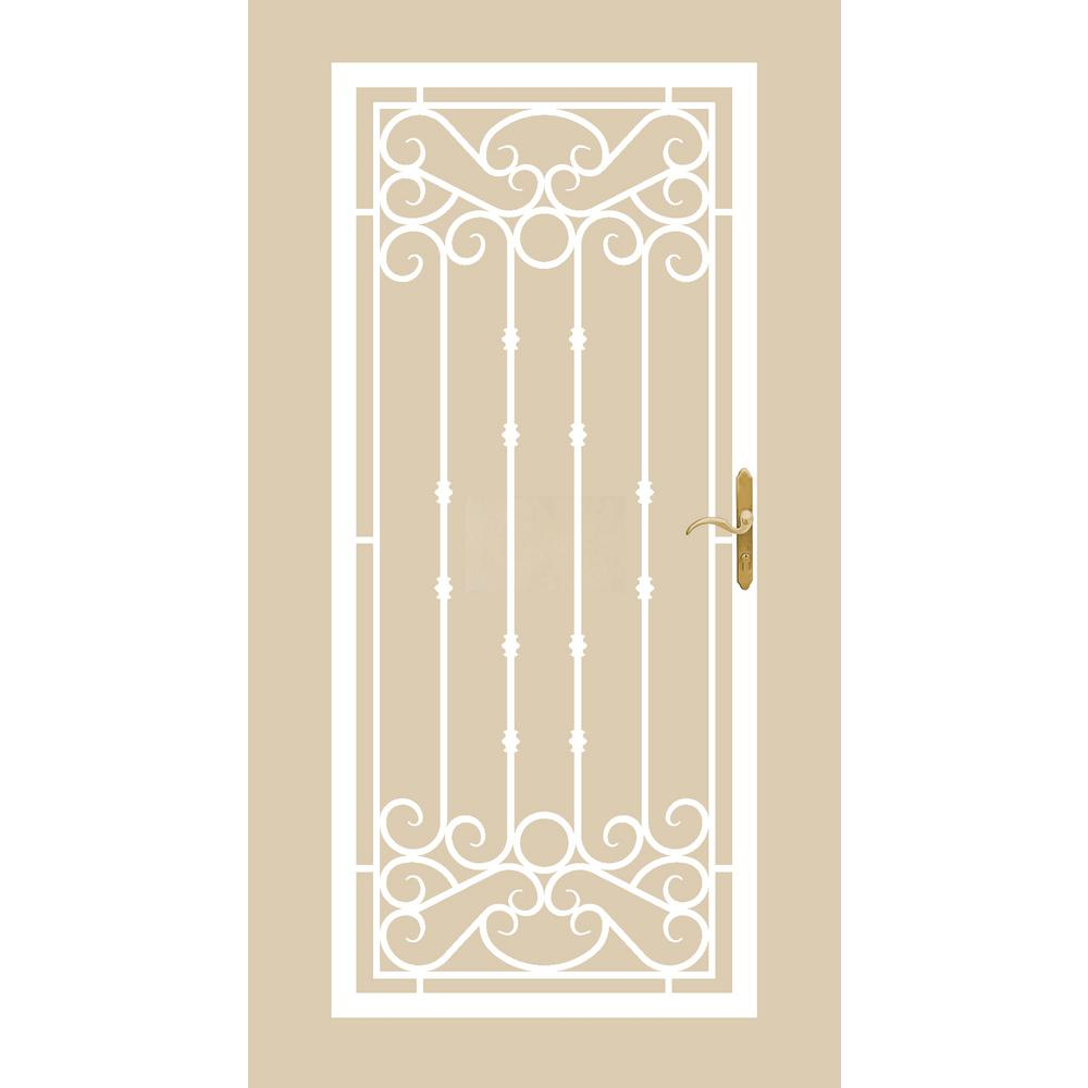 368 Series Bella Wrought Iron White Prehung Security