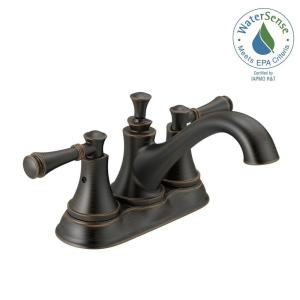 Bathroom Faucets Home Depot Delta delta windemere 4 in. centerset 2-handle bathroom faucet with
