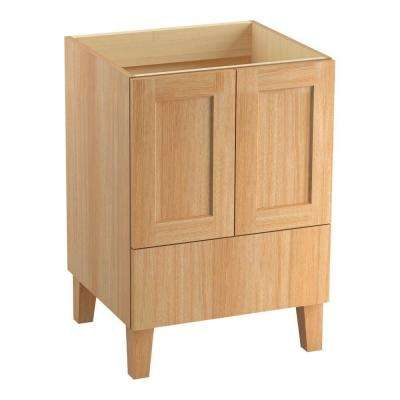 Poplin 24 in. Bath Vanity Cabinet Only in Khaki White Oak