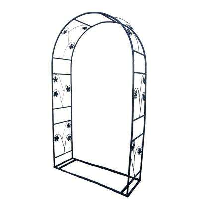88 in. x 48 in. Single Leaf Arbor with Base