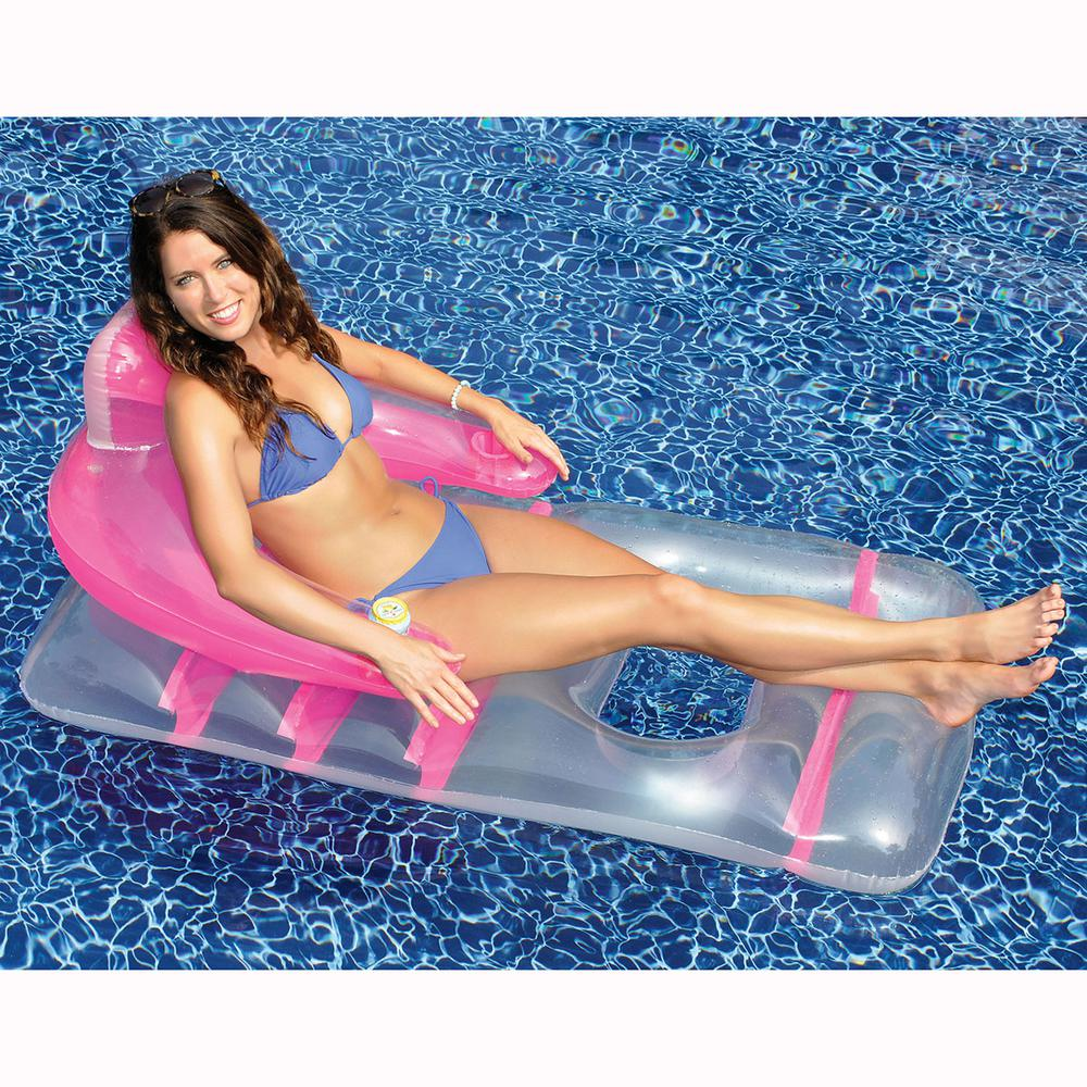 Assorted Colors Deluxe Lounge Chair Pool Float  sc 1 st  The Home Depot & Swimline 66 in. x 36 in. Assorted Colors Deluxe Lounge Chair Pool ...