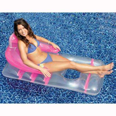 66 in. x 36 in. Assorted Colors Deluxe Lounge Chair Pool Float