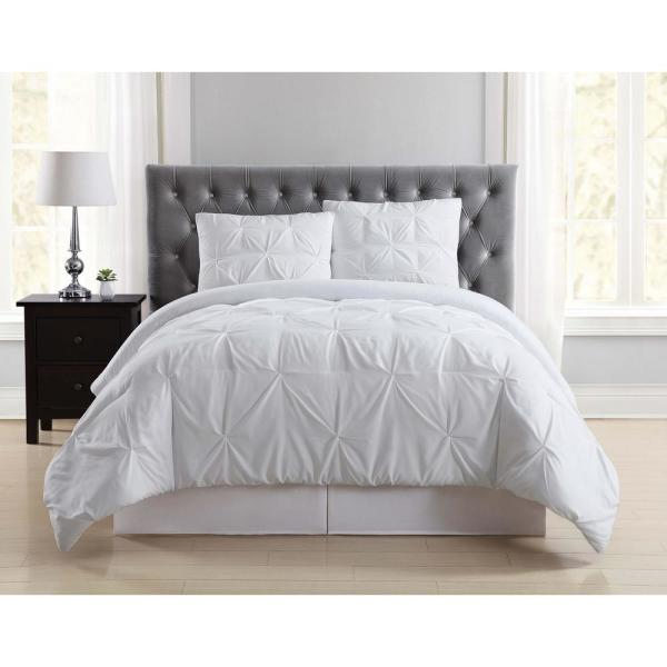 Truly Soft Everyday 3 Piece White Full Queen Comforter Set