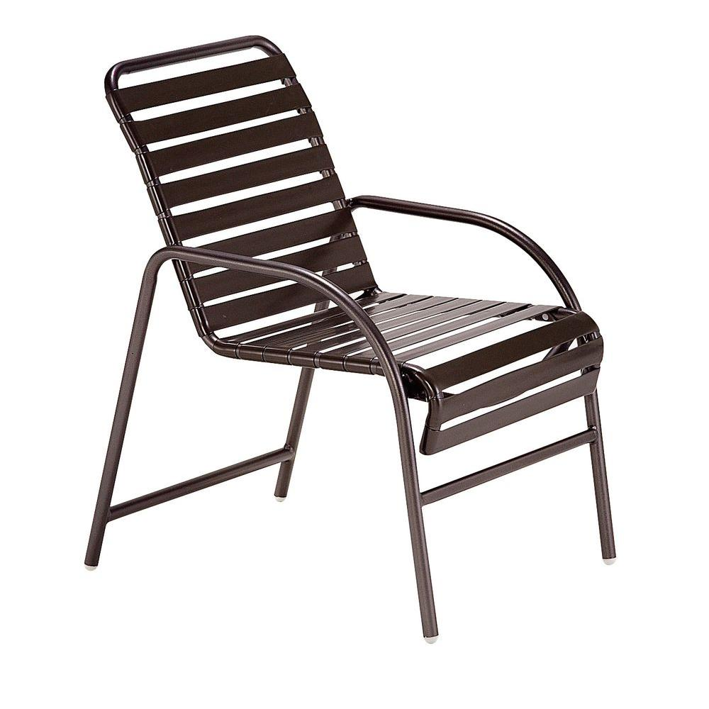 Tradewinds Milan Java Commercial Patio Game Chair (2-Pack)