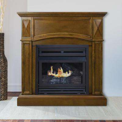 Compact 36 in. Vent-Free Gas Fireplace in Heritage