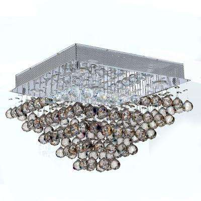 Icicle Collection 5-Light Chrome and Crystal Ceiling Light