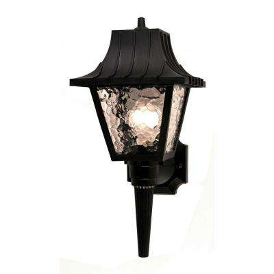 Troutman 1-Light Black Outdoor Wall Lantern