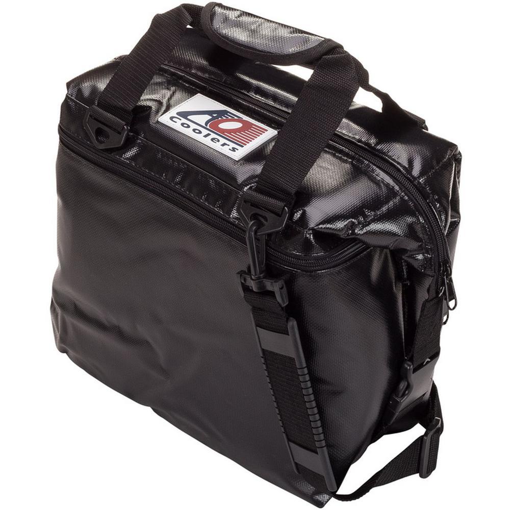 12 Qt. Soft Vinyl Cooler with Shoulder Strap and Wide Outside Pocket