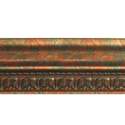 Grand Baroque 1 in. x 6 in. x 96 in. Wood Ceiling Crown Molding in Copper Fantasy