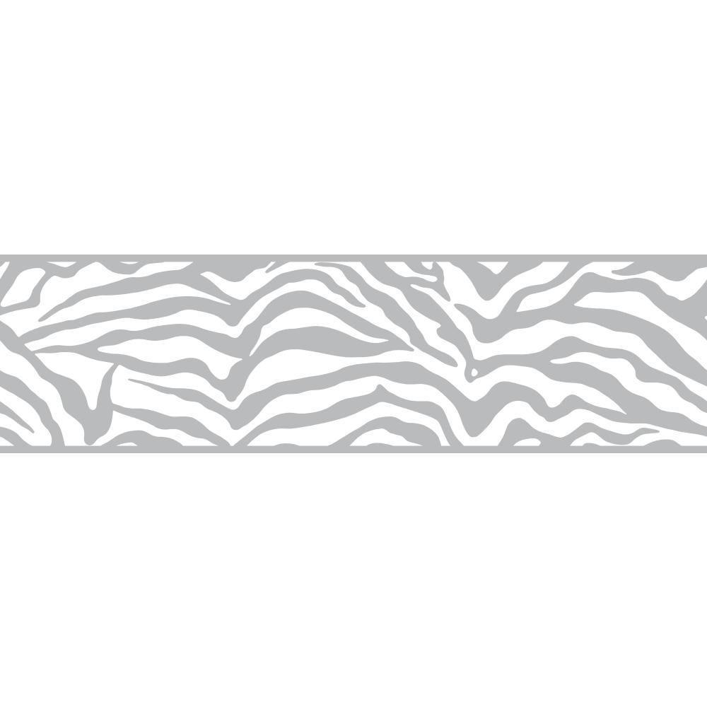 Inspired By Color Zebra Wallpaper Border
