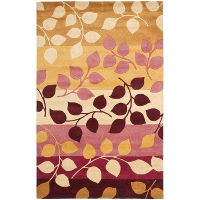 Soho Red/Gold 5 ft. x 8 ft. Area Rug