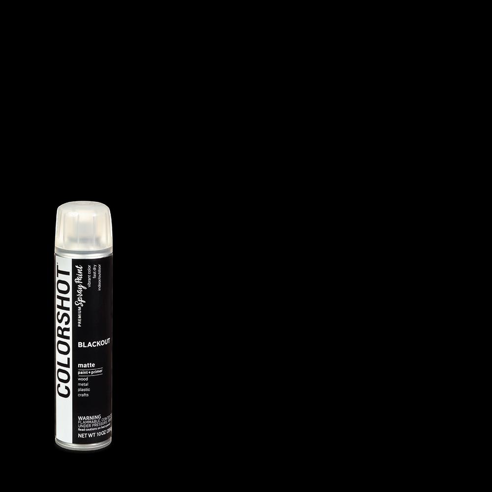COLORSHOT 10 oz. . Matte Blackout Black General Purpose Aerosol Spray Paint