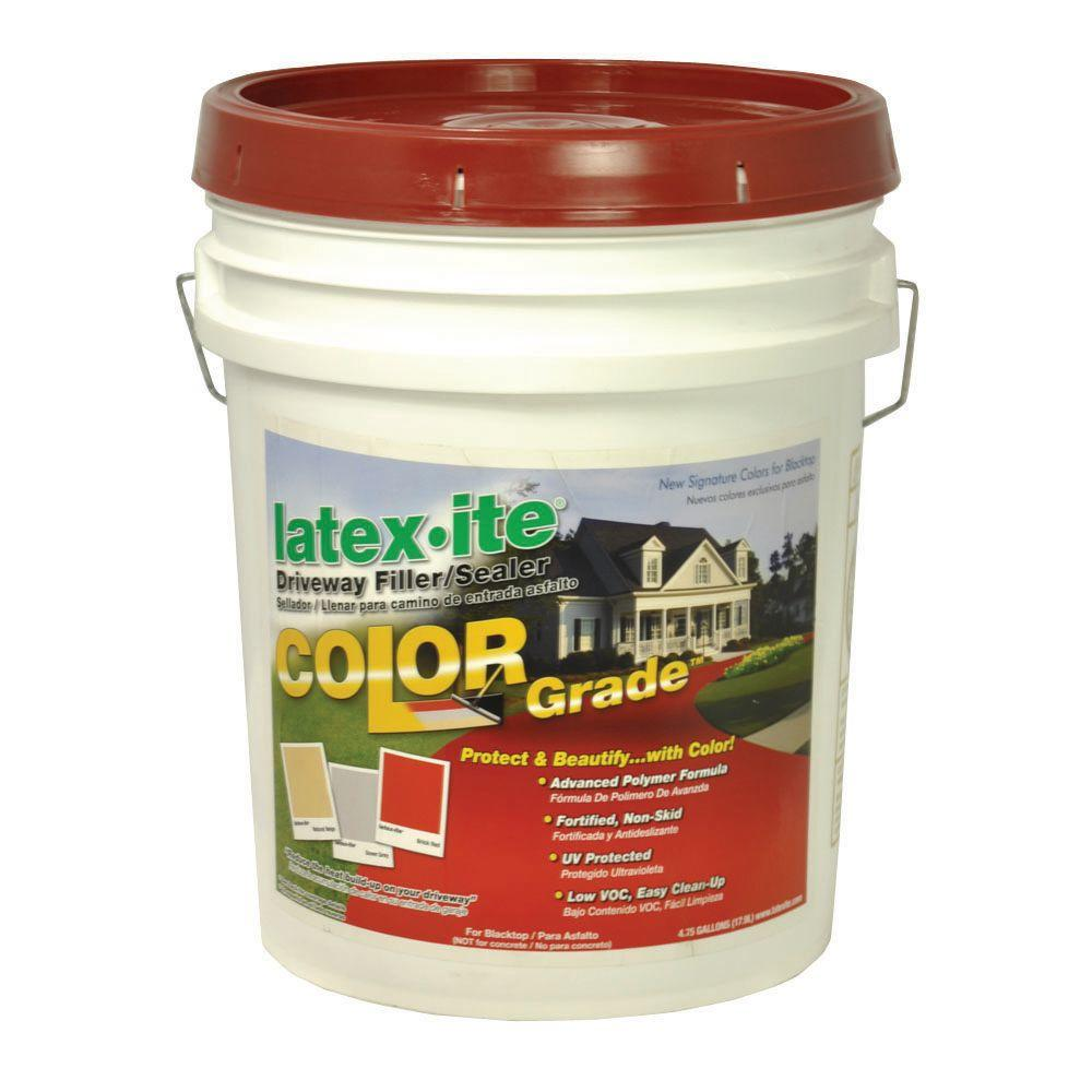 Latex-ite 4.75 Gal. Color Grade Blacktop Driveway Filler/Sealer in Brick Red