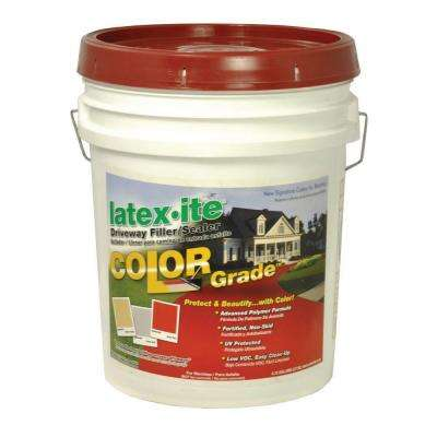 4.75 Gal. Color Grade Blacktop Driveway Filler/Sealer in Brick Red