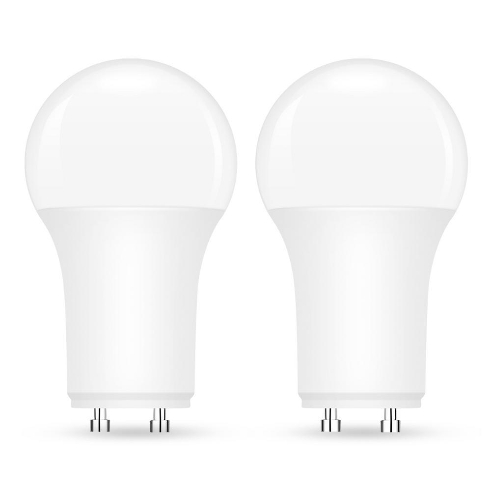 Yansun Ul Listed 60 Watt Equivalent A19 Led Light Bulbs Dimmable 9 Watt Gu24 Base Daylight White 2 Pack H Xp06603dgu24 2 The Home Depot