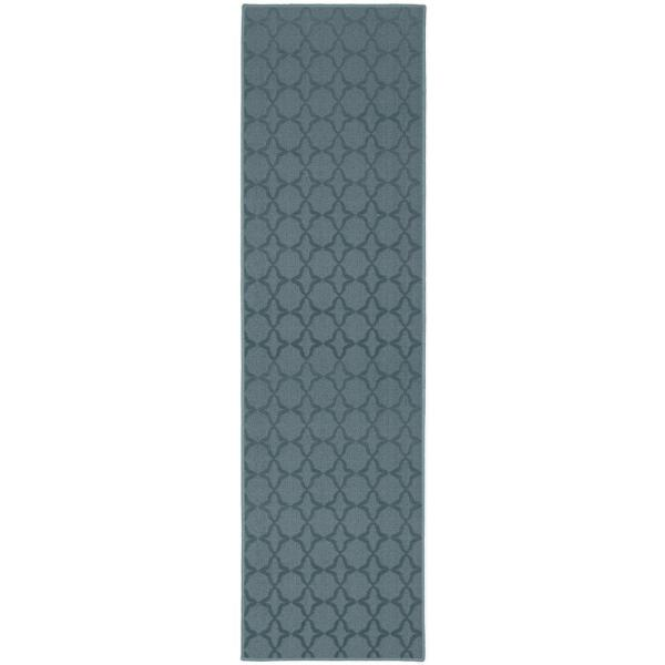 Sparta 2 ft. x 8 ft. Area Rug Runner Seafoam