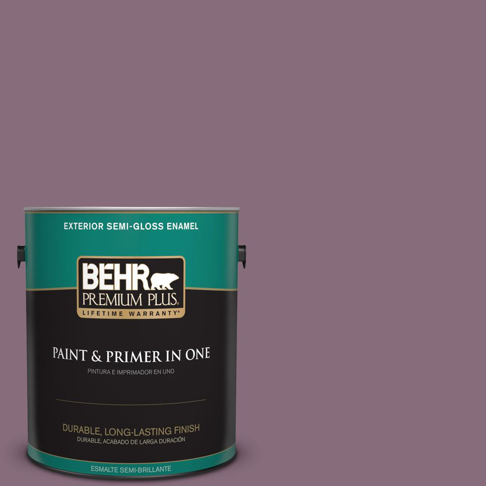 1-gal. #S110-6 Plum Royale Semi-Gloss Enamel Exterior Paint