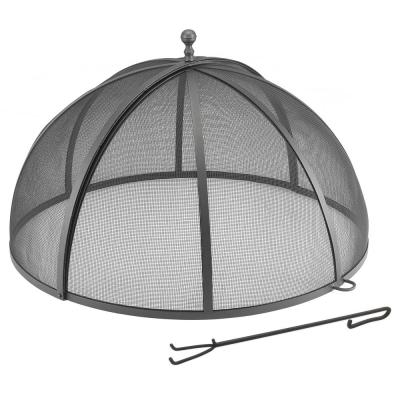 40 in. Extra Large Spark Screen Fire Pit Cover with Lifter